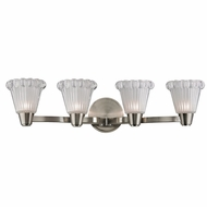 Hudson Valley 3444-SN Varick Satin Nickel Finish 25.25  Wide Xenon 4-Light Bathroom Vanity Light