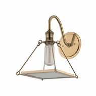 Hudson Valley 3501-AGB Thorndike Retro Aged Brass Wall Lighting Fixture