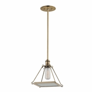 Hudson Valley 3521-AGB Thorndike Retro Aged Brass Mini Ceiling Light Pendant