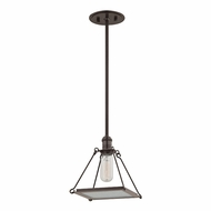 Hudson Valley 3521-OB Thorndike Retro Old Bronze Mini Drop Ceiling Light Fixture