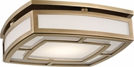 Hudson Valley 3713-AGB Elmore Modern Aged Brass LED Flush Lighting