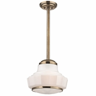Hudson Valley 3814-AGB Odessa Aged Brass Finish 13.5  Wide Pendant Lighting