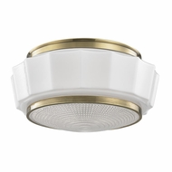 Hudson Valley 3814F-AGB Odessa Aged Brass Flush Lighting