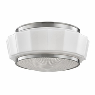 Hudson Valley 3814F-SN Odessa Satin Nickel Flush Mount Light Fixture