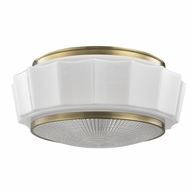 Hudson Valley 3816F-AGB Odessa Aged Brass Flush Mount Lighting Fixture