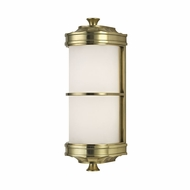 Hudson Valley 3831-AGB Albany Aged Brass Wall Lamp
