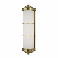 Hudson Valley 3832-AGB Albany Aged Brass Light Sconce