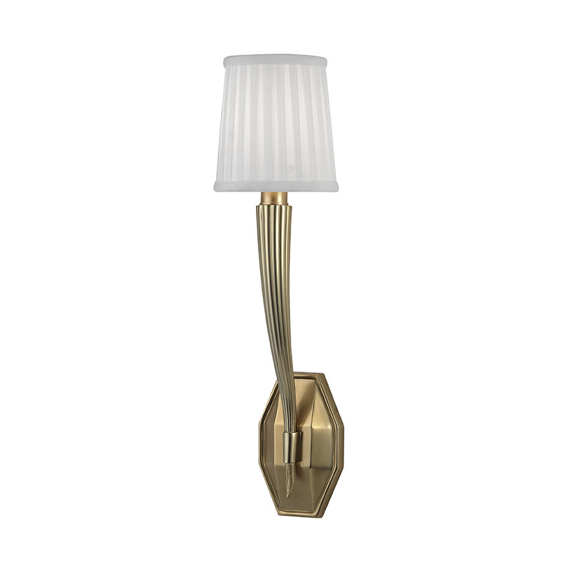 Aged Brass Wall Sconces : Hudson Valley 3861-AGB Erie Aged Brass Wall Lighting Sconce - HUD-3861-AGB