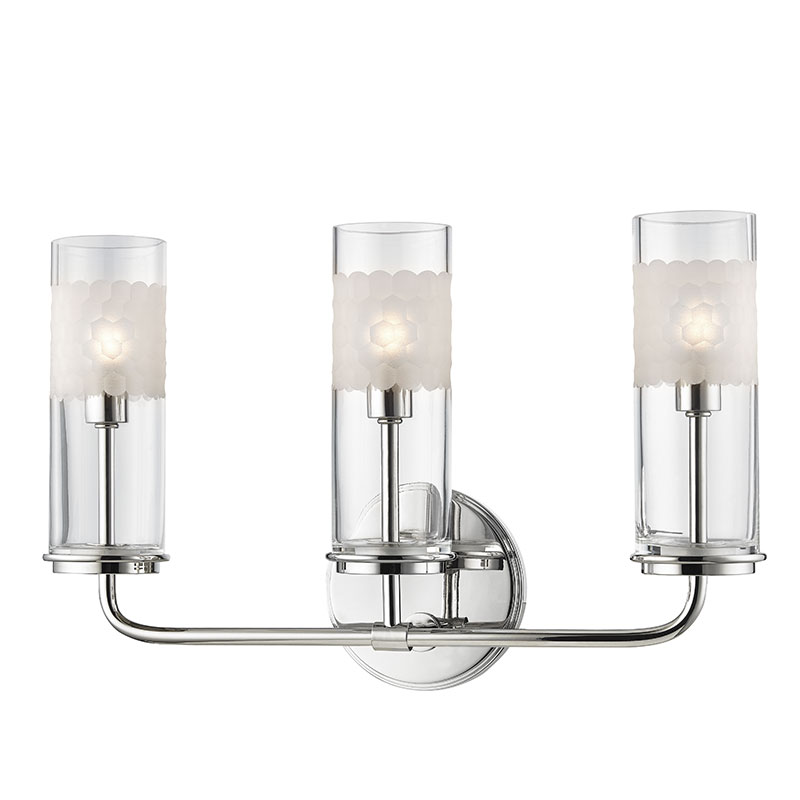 Bathroom Vanity Lights Polished Nickel hudson valley 3903-pn wentworth polished nickel xenon 3-light