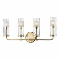 Hudson Valley 3904-AGB Wentworth Aged Brass Xenon 4-Light Bathroom Sconce Lighting
