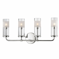 Hudson Valley 3904-PN Wentworth Polished Nickel Xenon 4-Light Bath Lighting Sconce