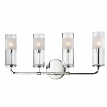 Bathroom Lighting Fixtures Polished Nickel hudson valley 3904-pn wentworth polished nickel xenon 4-light bath