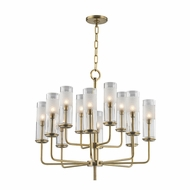 Hudson Valley 3925-AGB Wentworth Aged Brass Xenon Chandelier Lamp