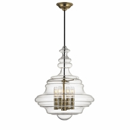 Hudson Valley 4016-AGB Washington Modern Aged Brass Lighting Pendant