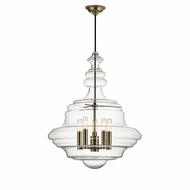 Hudson Valley 4020-AGB Washington Modern Aged Brass Hanging Lamp