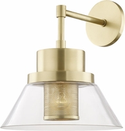 Hudson Valley 4030-AGB Paoli Contemporary Aged Brass Wall Mounted Lamp