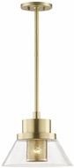 Hudson Valley 4031-AGB Paoli Contemporary Aged Brass Mini Drop Ceiling Lighting