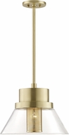 Hudson Valley 4032-AGB Paoli Contemporary Aged Brass Ceiling Pendant Light