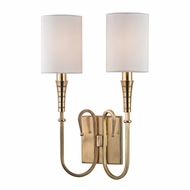 Hudson Valley 4092-AGB Kensington Aged Brass Wall Light Fixture