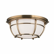 Hudson Valley 4112-AGB Conrad Aged Brass Finish 5 Tall Overhead Lighting Fixture