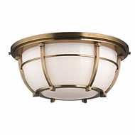 Hudson Valley 4115-AGB Conrad Aged Brass Finish 15.75 Wide Ceiling Light Fixture