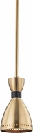 Hudson Valley 4140-AGB Solaris Contemporary Aged Brass Mini Ceiling Pendant Light