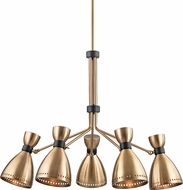Hudson Valley 4145-AGB Solaris Contemporary Aged Brass Chandelier Lamp