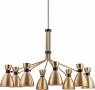 Hudson Valley 4148-AGB Solaris Contemporary Aged Brass Ceiling Chandelier