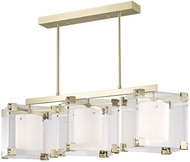 Hudson Valley 4154-AGB Achilles Contemporary Aged Brass Kitchen Island Lighting