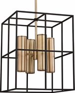Hudson Valley 4218-AGB LaGrange Modern Aged Brass Halogen Foyer Lighting Fixture