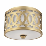 Hudson Valley 4310-AGB Genesee Aged Brass Ceiling Light Fixture