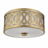 Hudson Valley 4314-AGB Genesee Aged Brass Flush Lighting