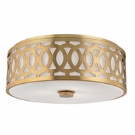Hudson Valley 4317-AGB Genesee Aged Brass Flush Mount Light Fixture