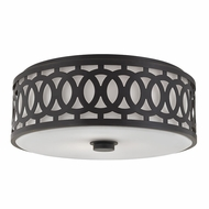 Hudson Valley 4317-OB Genesee Old Bronze Flush Mount Lighting Fixture