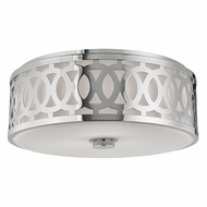 Hudson Valley 4317-PN Genesee Polished Nickel Flush Ceiling Light Fixture