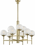 Hudson Valley 4436-AGB Salem Contemporary Aged Brass Chandelier Lighting