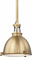 Hudson Valley 4614-AGB Massena Aged Brass Hanging Pendant Lighting