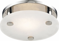 Hudson Valley 4709-PN Croton Modern Polished Nickel LED 9  Flush Ceiling Light Fixture
