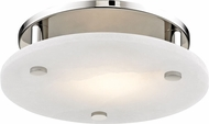 Hudson Valley 4712-PN Croton Contemporary Polished Nickel LED 12.25  Overhead Light Fixture