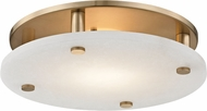 Hudson Valley 4715-AGB Croton Modern Aged Brass LED 15  Overhead Lighting Fixture