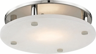 Hudson Valley 4715-PN Croton Modern Polished Nickel LED 15  Ceiling Light