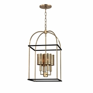 Hudson Valley 4814-AGB Vestal Aged Brass Finish 26  Tall Drop Ceiling Light Fixture