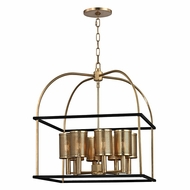 Hudson Valley 4821-AGB Vestal Aged Brass Finish 24.5  Tall Lighting Pendant