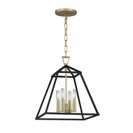 Hudson Valley 4914-AGB Webster Aged Brass 14  Wide Foyer Lighting