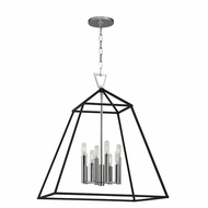 Hudson Valley 4924-PN Webster Polished Nickel 24  Wide Foyer Light Fixture