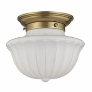 Hudson Valley 5009F-AGB Dutchess Aged Brass Flush Mount Ceiling Light Fixture