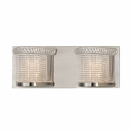 Hudson Valley 5192-SN Denning Satin Nickel Finish 14.25  Wide Xenon 2-Light Bath Sconce