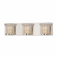 Hudson Valley 5193-PN Denning Polished Nickel Finish 5.5  Tall Xenon 3-Light Vanity Light Fixture