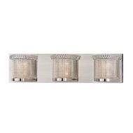 Hudson Valley 5193-SN Denning Satin Nickel Finish 22.25  Wide Xenon 3-Light Vanity Lighting Fixture