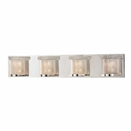 Hudson Valley 5194-PN Denning Polished Nickel Finish 5.5  Tall Xenon 4-Light Bathroom Vanity Light Fixture